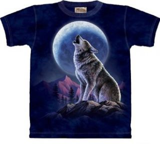 The Mountain Howling Lone Wolf Moon Tee T shirt Child L: Everything Else