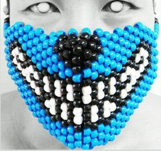 Original Mask From Kandigear   Big Bad Wolf Kandi Mask, Rave Wear, Gear Costume, Plur, EDC   Often Imitated Never Duplicated, Only From Kandigear : Everything Else