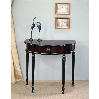 Coaster Traditional Entry Way Console Table/Hall Table, Cherry Finish   Sofa Tables