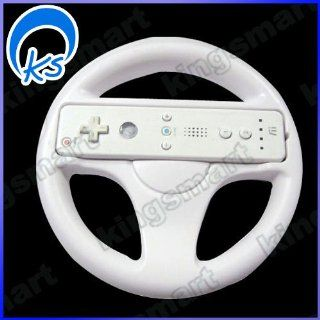 Steering Wheel for Wii Mario Kart Racing Game White: Video Games