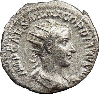 GORDIAN III 240AD Quality Authentic Ancient Silver Roman Coin Rome VIRTUS SHIELD
