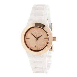 J by Jasper Conran Designer ladies rose gold link bracelet watch