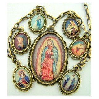 OL Our Lady of Guadalupe Marian Icon Pendant Charm Religious Necklace for Women: Jewelry