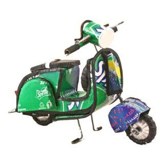 Recycled Soda Pop and Beer Can Vespa Scooter   Fair Trade   Wall Clocks