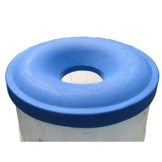 "Dixie Poly RC 55 Polyethylene Recycling Lid, For Metal or Plastic 55 gallon Drum, 24"" Outside Diameter x 4 3/16"" Height, Blue Drum And Pail Lids Industrial & Scientific"