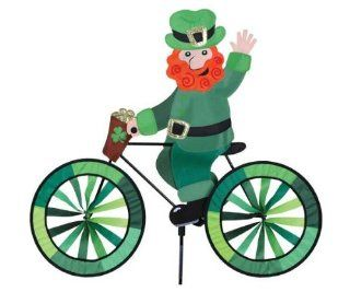Leprechaun Bicycle Spinner   (Wind Garden Products) (Outside Ornaments): Patio, Lawn & Garden