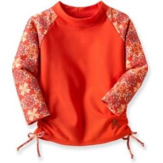 Outside Baby Rash Guard Girl, Orange Flower, 9 18 Months Clothing