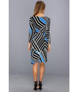 Calvin Klein L/S Printed Matte Jersey Dress Algean Multi