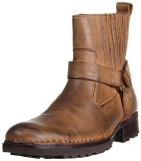 RJ Colt Men's Minor Round Toe Double Gore Pull On Boot Shoes