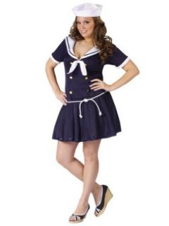 Plus Size Theatre Costumes Sailor Costume Navy Naval Uniform Sizes One Size Clothing