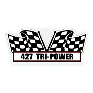 Air Cleaner Engine Decal   427 Tri Power for Chevy Chevrolet Classic Corvette Crate Motor Muscle Car   5x2.25 inch: Automotive