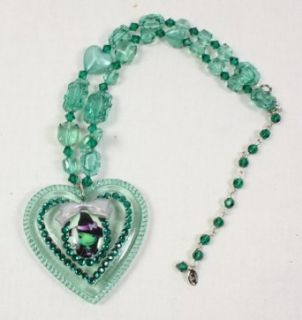 Tarina Tarantino Emerald Wicked Witch Heart Necklace: Clothing