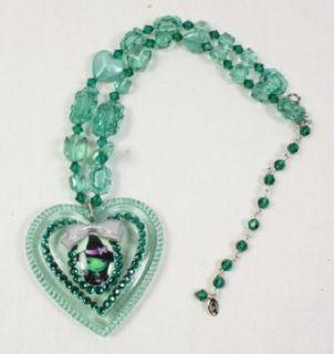 Tarina Tarantino Emerald Wicked Witch Heart Necklace: Clothing