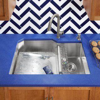 KOHLER K 5285 NA Strive 32 X 18 1/4 X 9 5/16 Inch Under Mount Single Bowl Kitchen Sink with Basin Rack, Stainless Steel, 1 Pack   Undermount Kitchen Sink