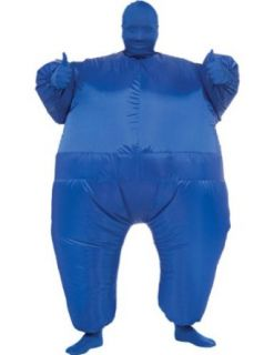 Inflatable Skin Suit Adult Costume Blue Adult Mens Costume: Clothing
