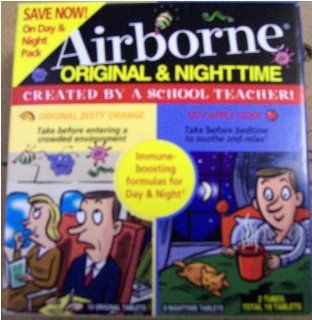 [2 Pack] Airborne Nighttime Hot Apple Cider Flavored, 9 tablets each: Health & Personal Care