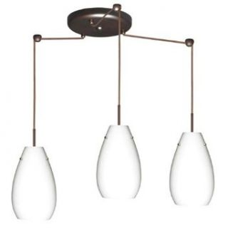 Pera 3 Light Pendant Finish: Bronze, Glass Shade: Opal Matte, Bulb Type: Incandescent   Ceiling Pendant Fixtures