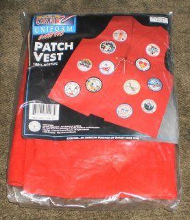 CUB SCOUT UNIFORM PATCH VEST   RED   SIZE ADULT LARGE  Sporting Goods  Sports & Outdoors