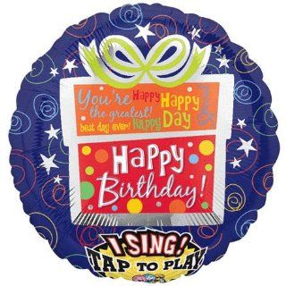 "Happy Birthday Present Sing a Tune Foil Balloon 28"" Toys & Games"