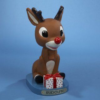 """11"""" Rudolph the Red Nosed Reindeer Sitting with Present Christmas Nutcracker   Decorative Christmas Nutcrackers"""