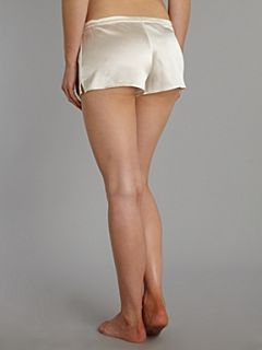Julianne Samantha stretch silk shorts Ivory