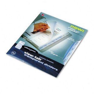 View Tab Transparent Index Dividers, 8 Tab, Square, Letter, Clear, 8/Set : Office Products