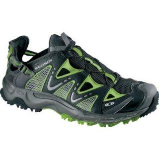 Salomon Men's Sport Amphibian Water Shoe (Black/ Black/ Grass X)   10: Shoes