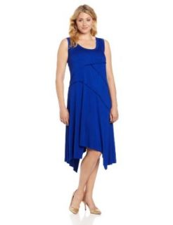 Karen Kane Women's Plus Size Handkerchief Hem Dress, Ocean, 0X at  Women�s Clothing store: