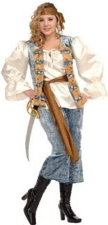 Deluxe Plus Size Pirate Lady Costume   Plus Size: Clothing