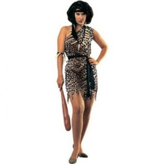 Rubie's Costume Women's Cavewoman Adult Fuller Cut Value Costume, Multi, One Size: Clothing