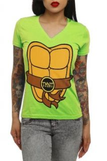 Teenage Mutant Ninja Turtles Costume V Neck Girls T Shirt Plus Size Size : XX Large: Clothing
