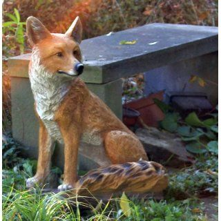 Kelkay 4433 Sitting Fox Statue : Outdoor Statues : Patio, Lawn & Garden