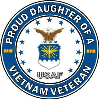 US Air Force Proud Daughter of a Vietnam Veteran Decal Sticker: Automotive