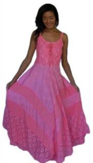 HOT PINK DRESS LACE UP SEMI SHEER STRAPS   FITS   1X 2X 3X   P243S LOTUSTRADERS: World Apparel: Clothing