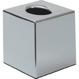 Chrome Coloured Cube Tissue Holder/Box   Suitable for Hotels and Guest Houses. Very easy to put in replacement tissues when the time comes   Chrome Tissue Box Cover