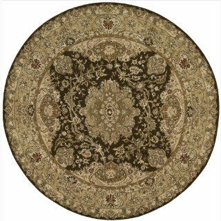 Nourison 2000 2028 Round Rug, Chocolate, 8.0 Feet by 8.0 Feet   Hand Tufted Rugs