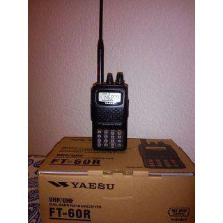Yaesu FT 60R Dual Band Handheld 5W VHF / UHF Amateur Radio Transceiver  Automotive Cb Radios And Scanners  Electronics