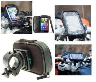 Buybits Motorcycle, Bike Handlebar Mount with Waterproof Case fits the HTC Sensation Mobile Smartphone: Car Electronics