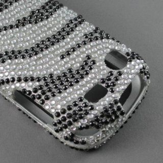 BLING DIAMOND RHINESTONE CRYSTAL ZEBRA HARD PHONE CASES COVERS SKINS SNAP ON FACEPLATE PROTECTOR FOR SAMSUNG MESSAGER TOUCH R630 CRICKET ALLTEL (WHOLESALE PRICE): Cell Phones & Accessories