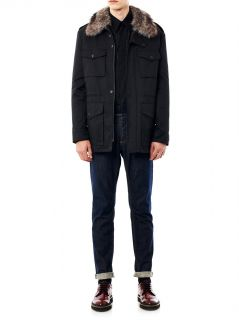 Gabardine fur lined field jacket  Yves Salomon  MATCHESFASHI