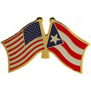 "American & Puerto Rico Flags Pin 1"" Clothing"