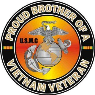 US Marine Corps Proud Brother of a Vietnam Veteran Decal Sticker: Automotive