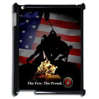 Personalized USMC Marine Corps The Few.The Proud Ipad 2/3/4 Hard Plastic Back Wearproof And Sleek Case Cover: Cell Phones & Accessories
