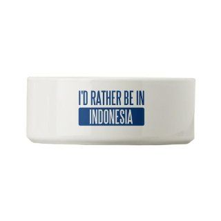CafePress I'd rather be in Indonesia Small Pet Bowl [Misc.] : Pet Supplies