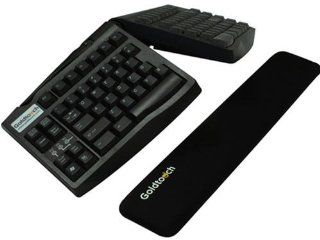 GOLDTOUCH GT Black Gel Filled Slim Line Wrist Rest. Made from durable gel and smooth lycra,Goldtouch SlimLine Wrist Rest provides a cushion for typists using today s thinner full sized and mini keyboards. (Catalog Category Input Devices and Document Imagi