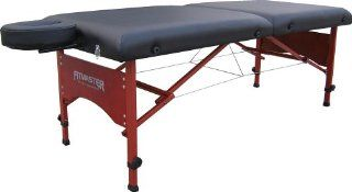Master Massage Montana 30 Inch Portable Massage Table, Black with Mahogany: Health & Personal Care