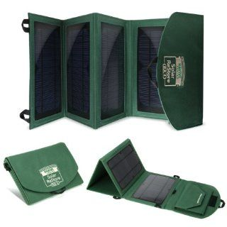 ReStore RA4 Portable 14W Solar Panel Charger w/ Dual USB Ports & Foldable Panels for 5V USB charged devices like iPhones, Galaxy Tablets, GoPros, and more   Includes Protective Rain Cover: Cell Phones & Accessories