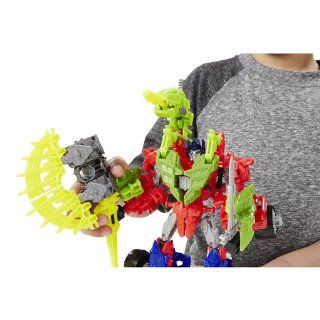 Transformers Age of Extinction Construct Bots Dinobot Warriors Optimus Prime and Gnaw: Toys & Games