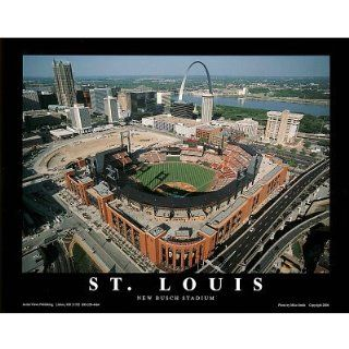 Mike Smith St Louis Cardinals New Busch Stadium Sports Poster Print   22x28 custom fit with RichAndFramous Black 28 inch Poster Hangers
