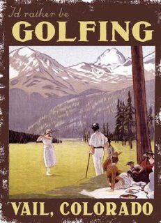 """I'd Rather Be Golfing (Personalized) 30""""x40"""" Planked Wood Sign Wall Decor Art"""